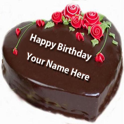 Write Name On Happy Birthday Cake And Send Whatsapp