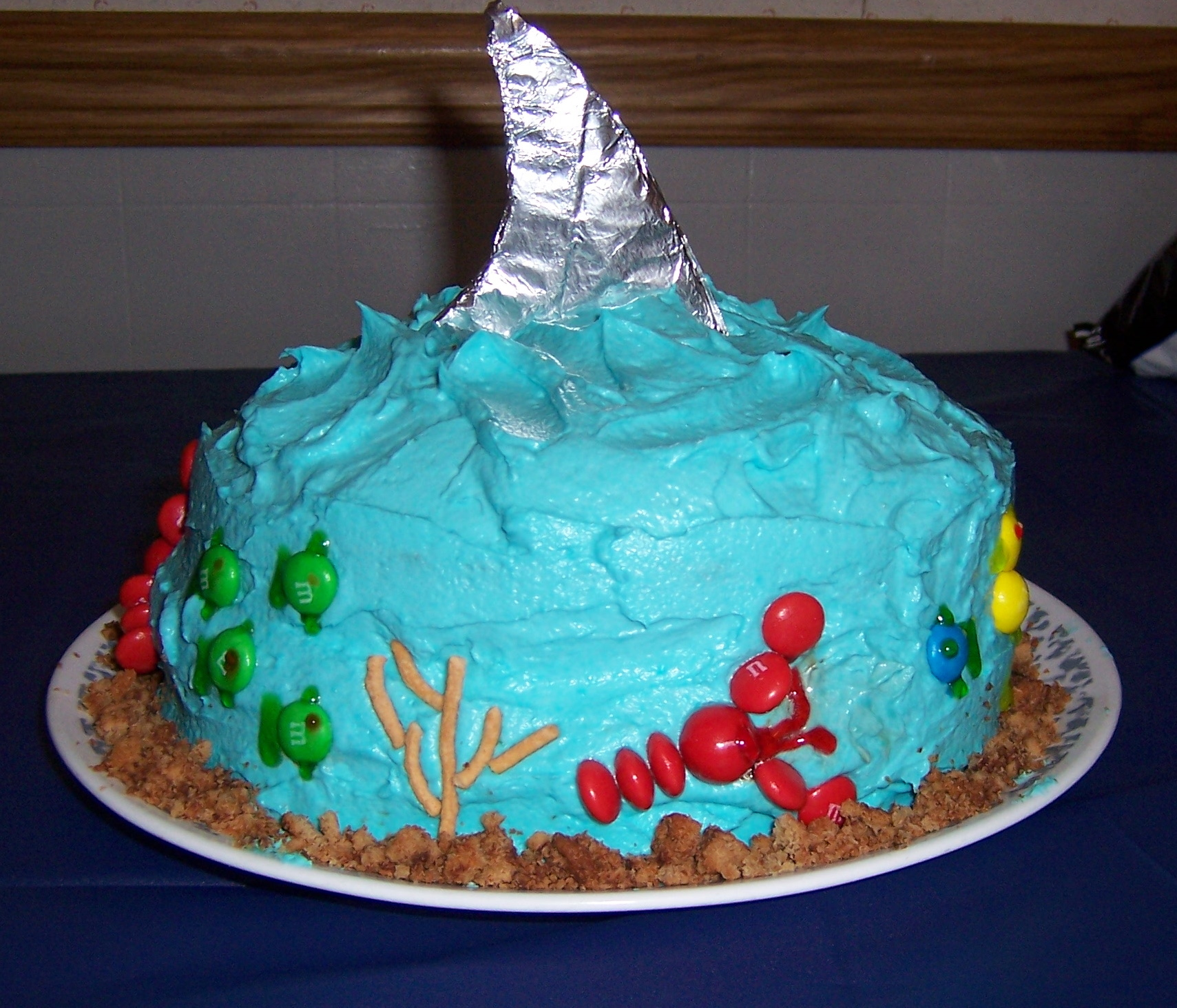 Ocean Cake With Shark Fin Baking Mom