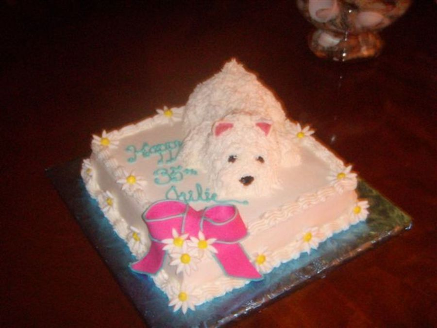 Westie Dog Birthday Cake CakeCentral