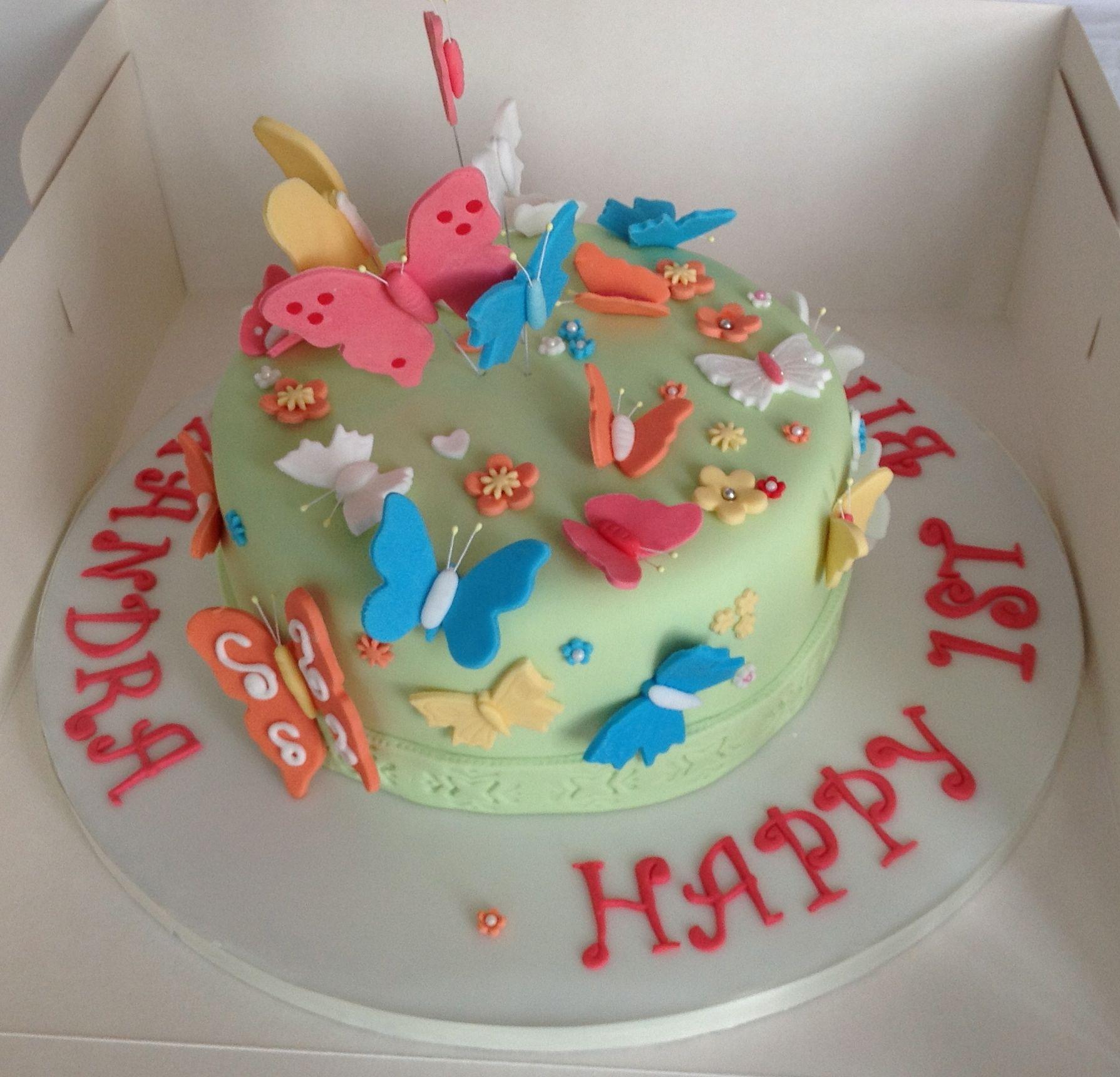 Butterflies Birthday Cakes