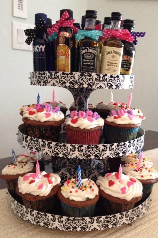Liquor Birthday Cakes Fascinating Liquor Bottle Cake Decorations