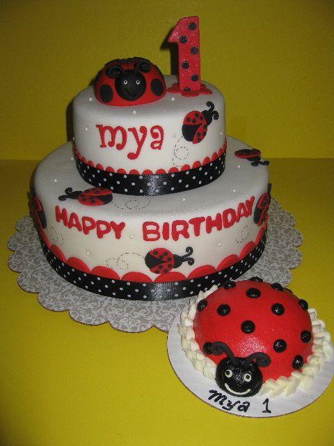 Ladybug Birthday Cakes