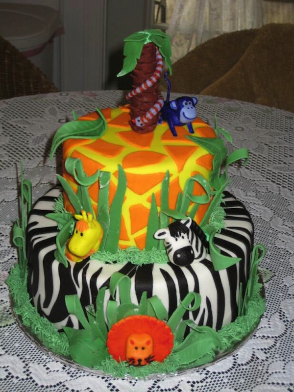 Animal Jungle Safari Theme Birthday P Y Cakes And