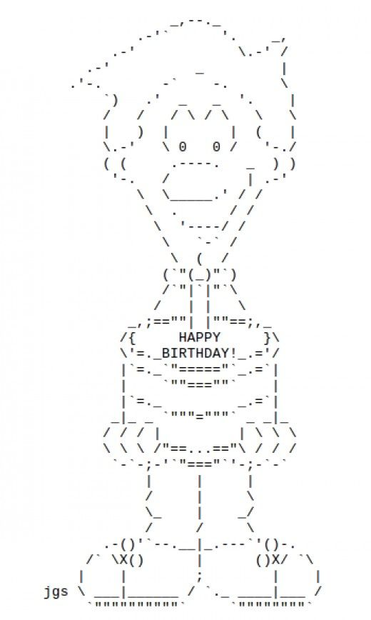 Ascii Birthday Cakes