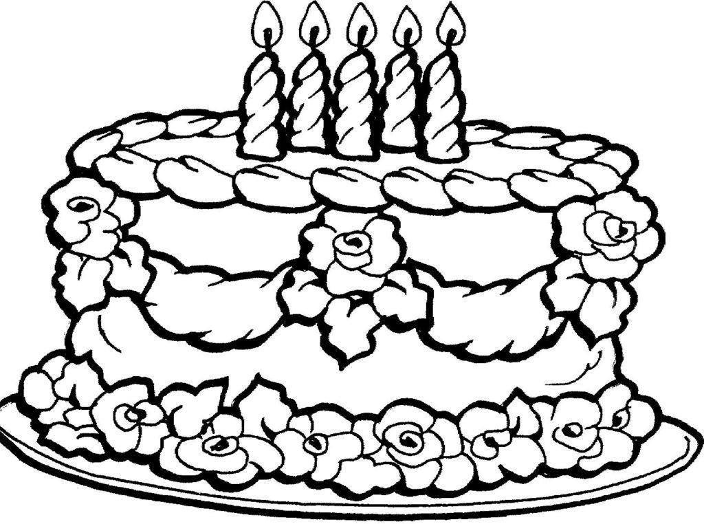 Colouring Birthday Cakes