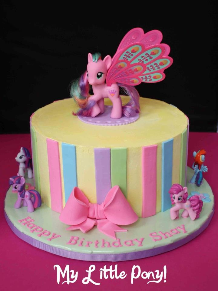 The Greedy Baker My Little Pony Birthday Cake
