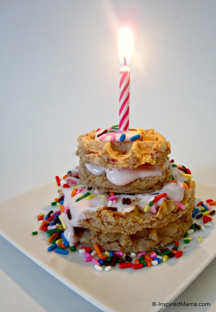 Waffle Birthday Cakes