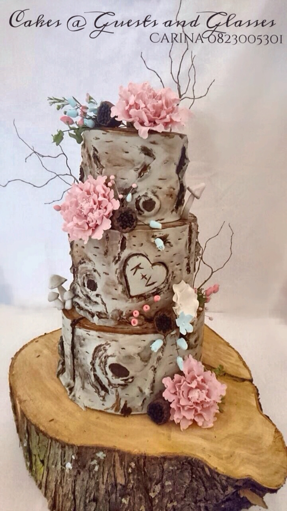 Stump Wedding Cakes - Wedding Cake Tree Bark