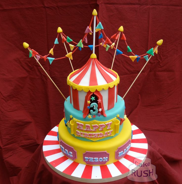 Awesome Carnival Birthday Cake Design The Cake Boutique Personalised Birthday Cards Bromeletsinfo