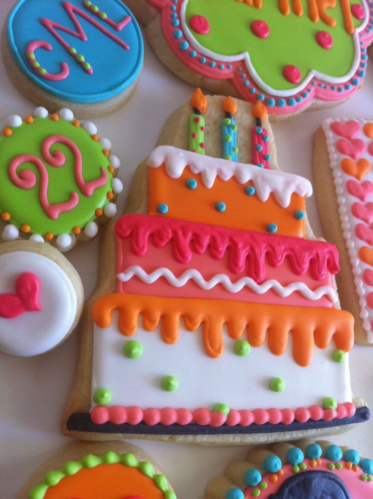 Cookies Birthday Cakes