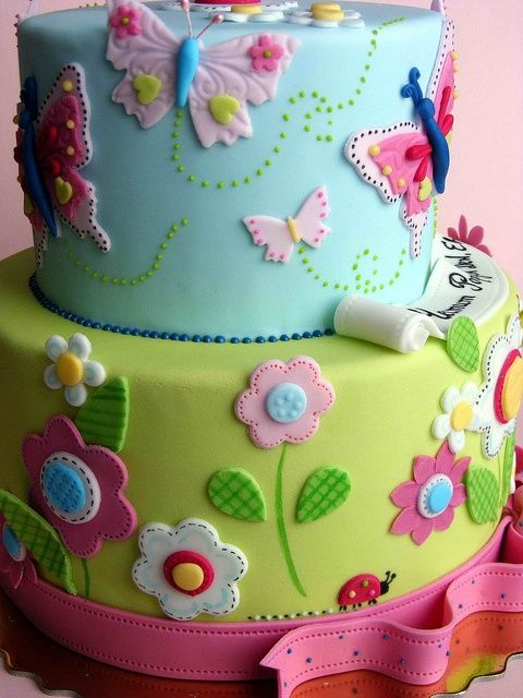 Butterfly And Dragonfly Birthday Cakes