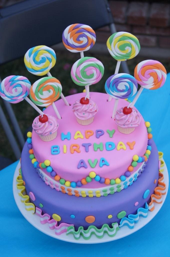 Lollipop Birthday Cakes