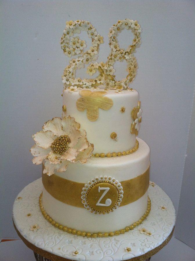 Golden Birthday Cakes