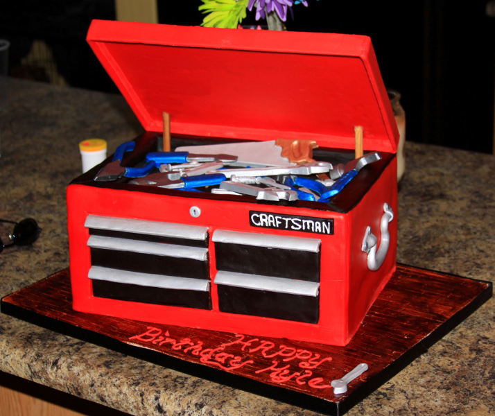 Toolbox Birthday Cakes Awesome Cake Decorators Tool Box
