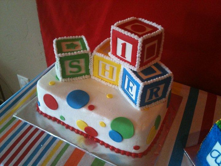 Blocks Birthday Cakes