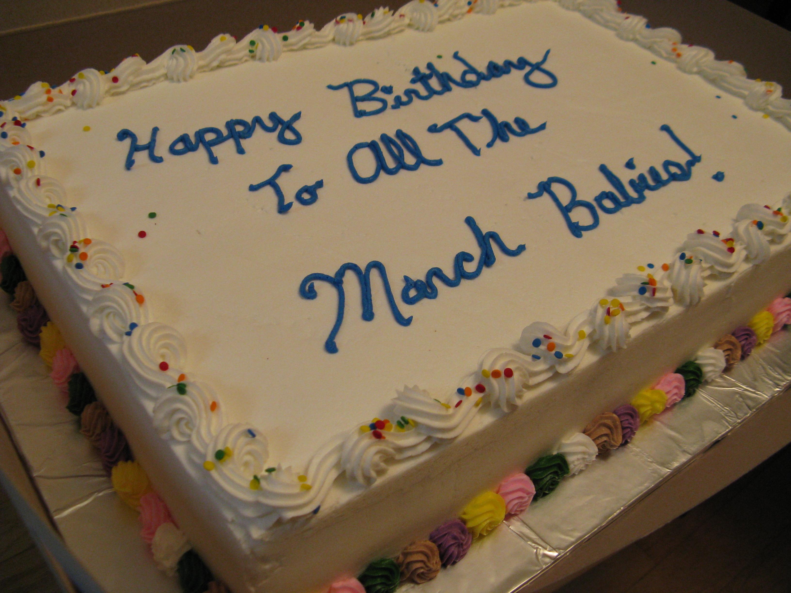 May Birthday Cakes