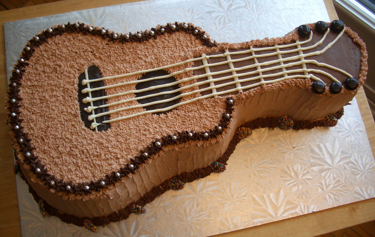 Guitar Birthday Cake Ideas Topsimages