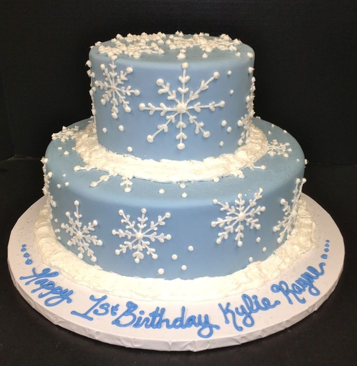 Snowflake Birthday Cakes