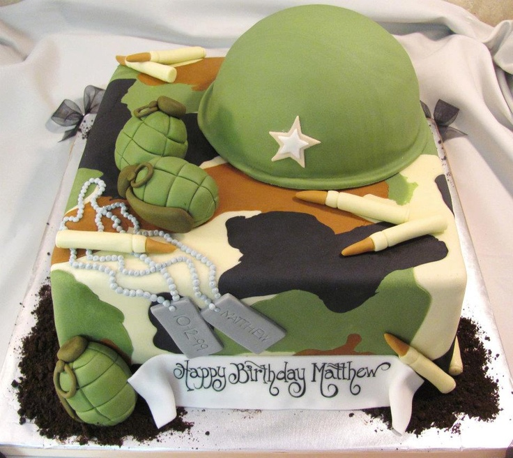 Soldier Birthday Cakes