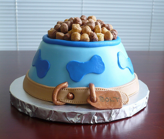 Dog Bowl Birthday Cake Very Cool CakePNG