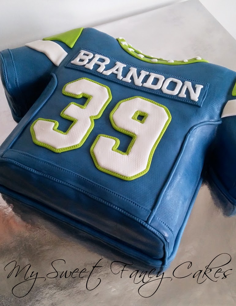 My Sweet Fancy Cakes Seattle Seahawks Jersey Cake And