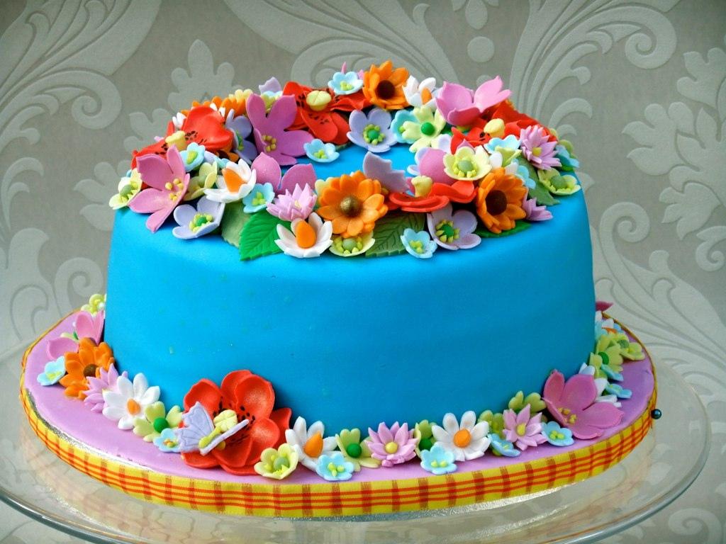 Flower Birthday Cakes