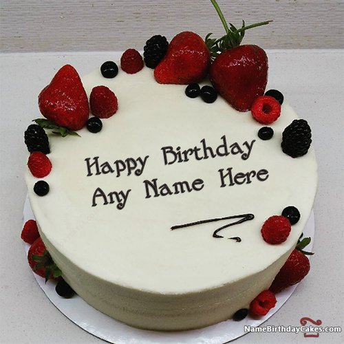 Happy Birthday Cake With Name It Looks Like Real