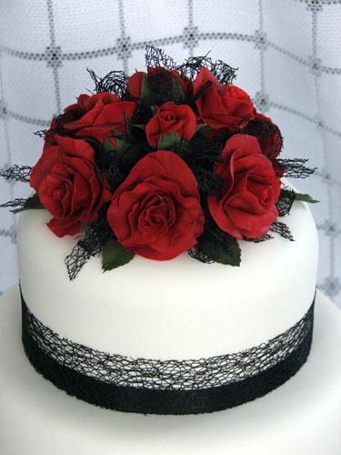 Birthday Cake Red Roses
