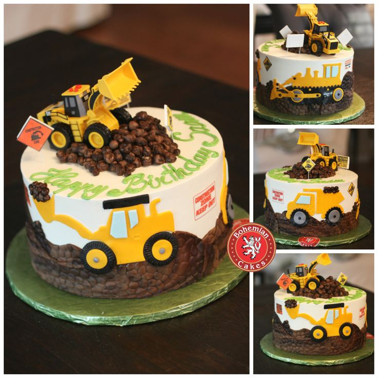 Bulldozer Birthday Cakes