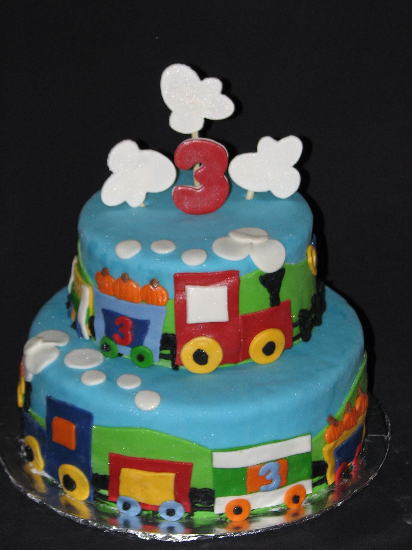 Train Birthday Cakes