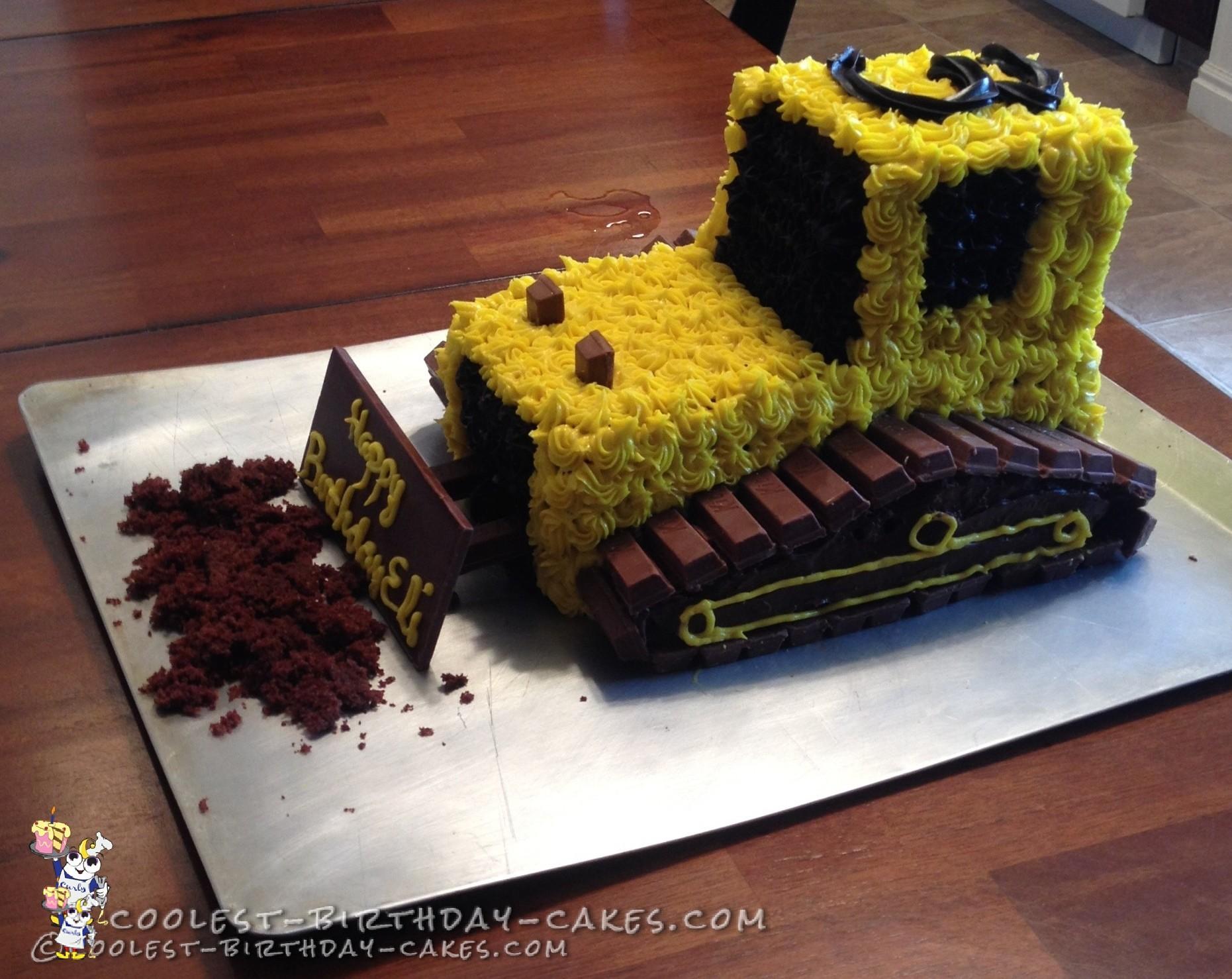 Bulldozer Cake Instructions