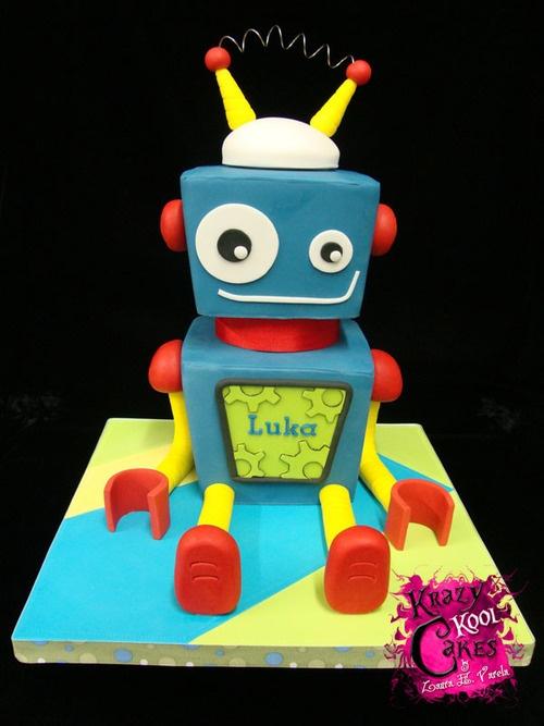 Robot Birthday Cakes