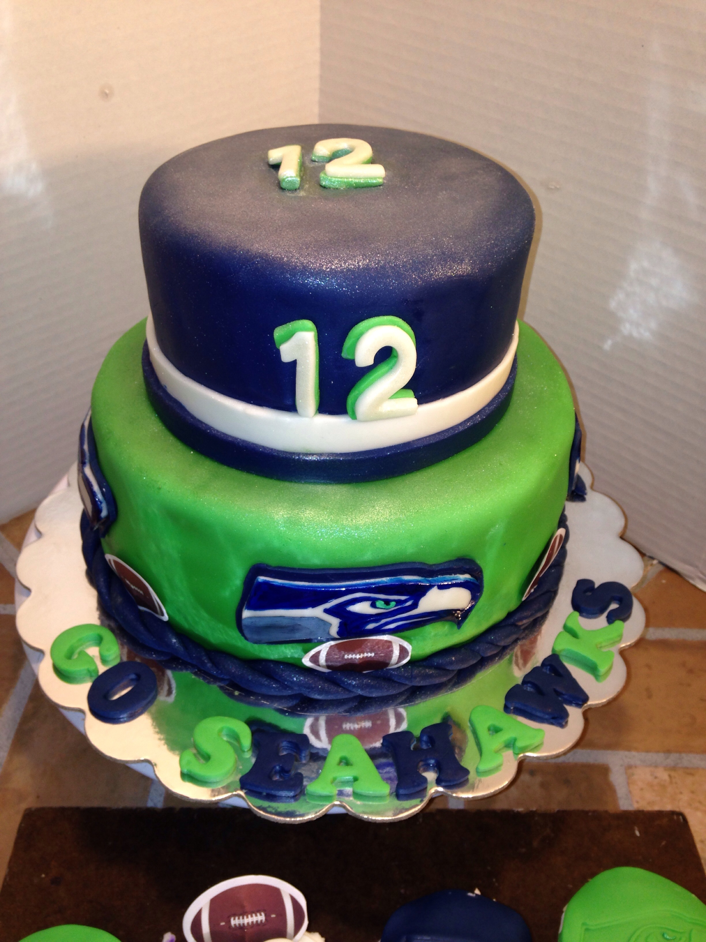 Last Seahawks Cake Before Todays Super Bowl GO