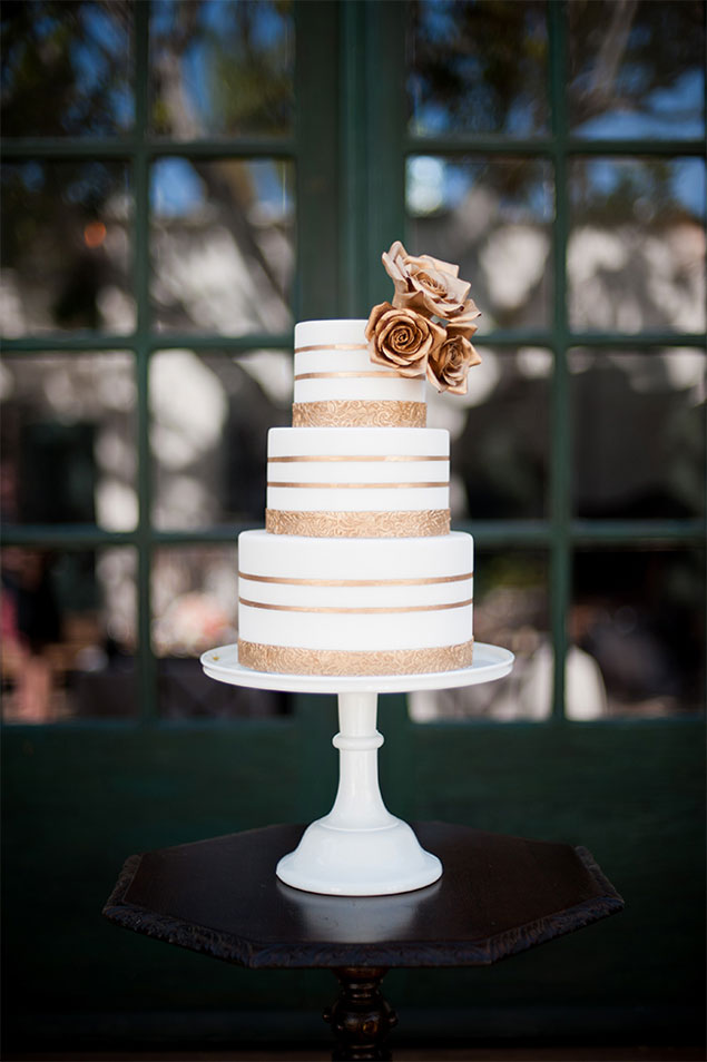 Striped Wedding Cakes