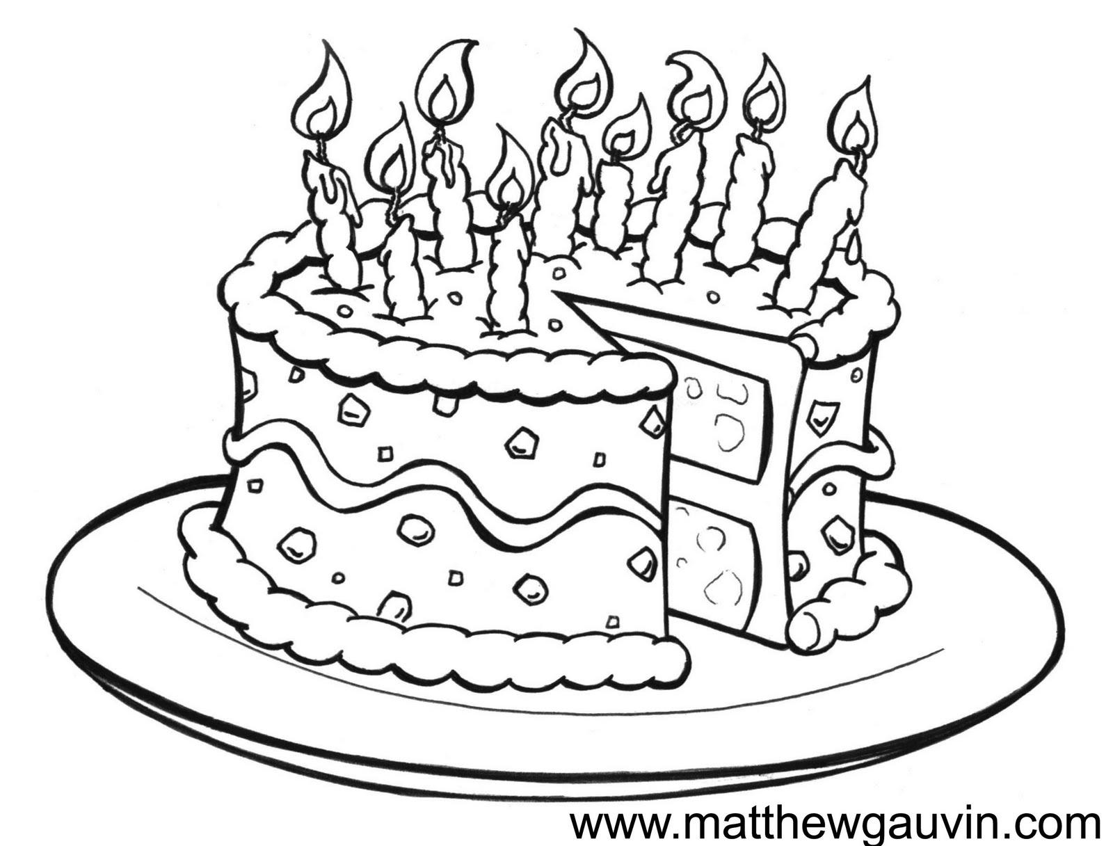 Sketch birthday cakes