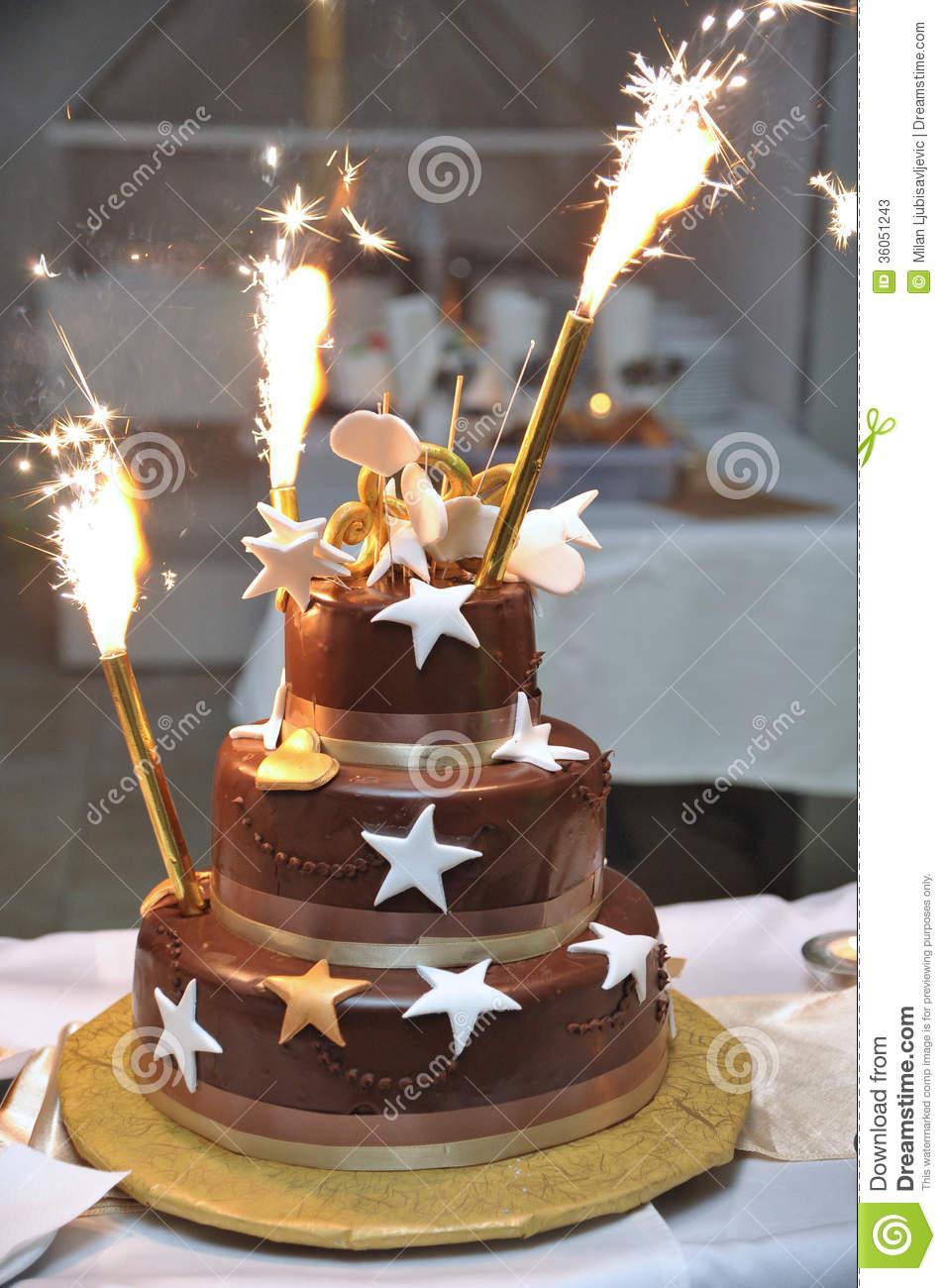 Firework Birthday Cakes