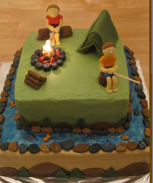 Camping Birthday Cakes