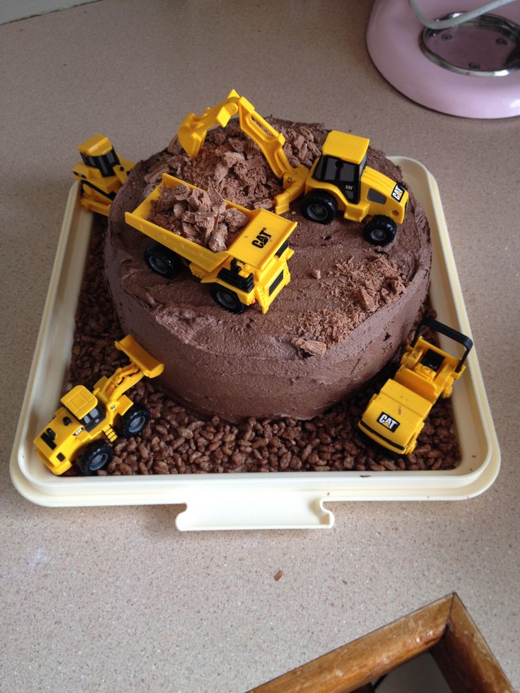 Digger Birthday Cakes
