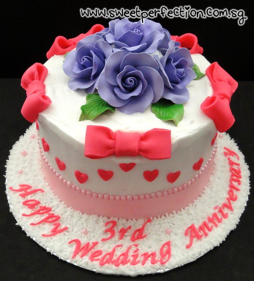 3rd Anniversary Cakes