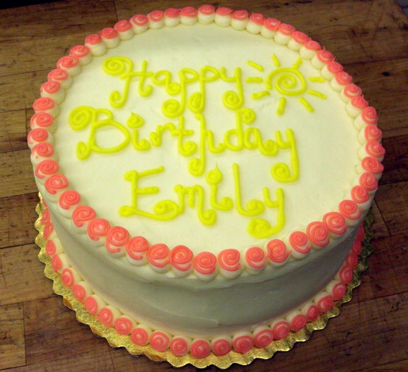 Yellow Birthday Cakes