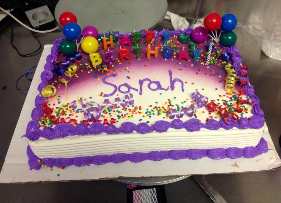 Sara Birthday Cakes