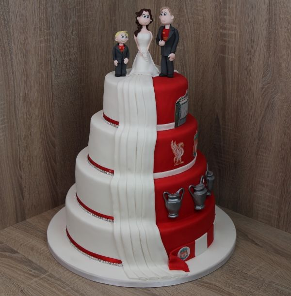 Liverpool Fc Wedding Cake Topper