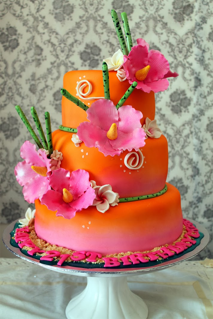 Tropical Birthday Cakes