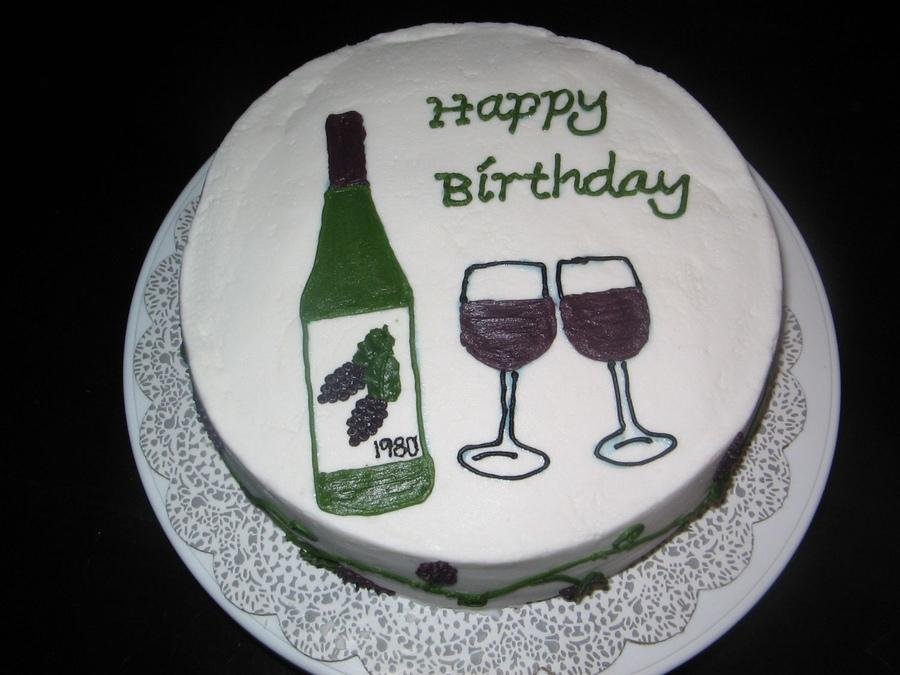 Wine Birthday Cake A