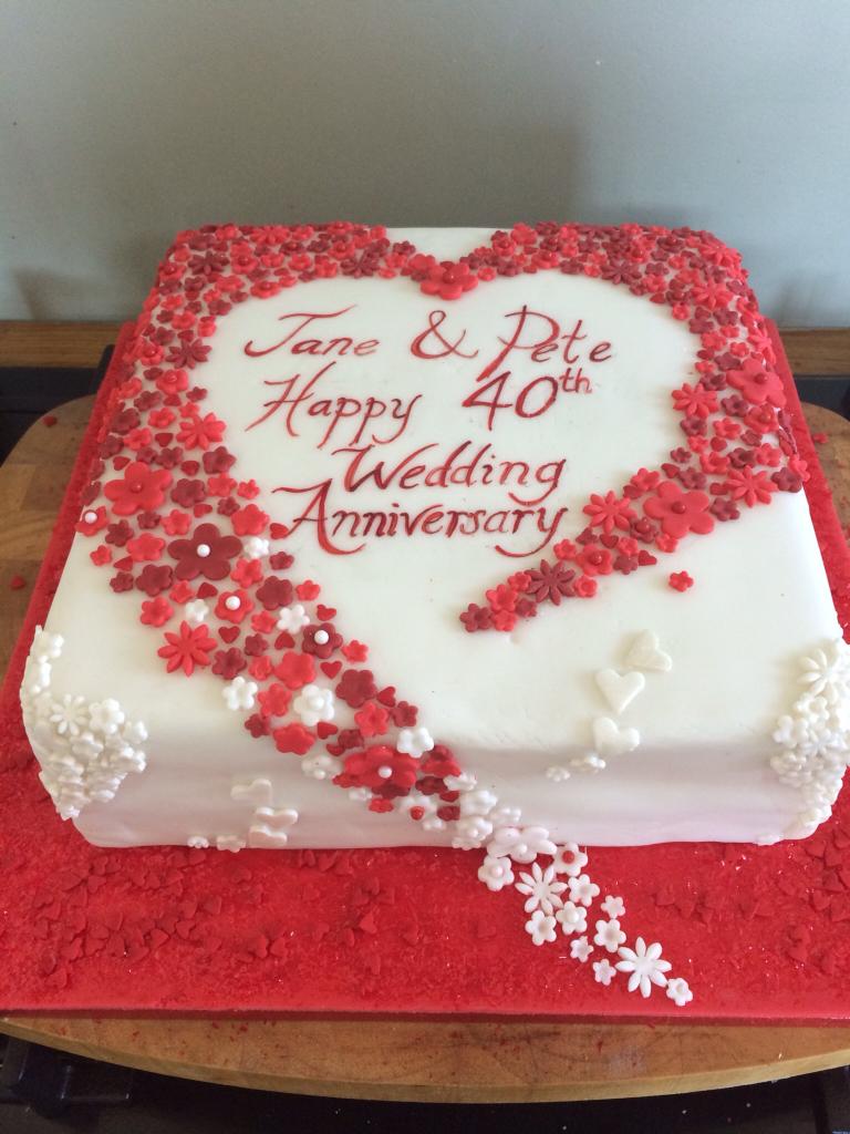 40Th Wedding Cakes