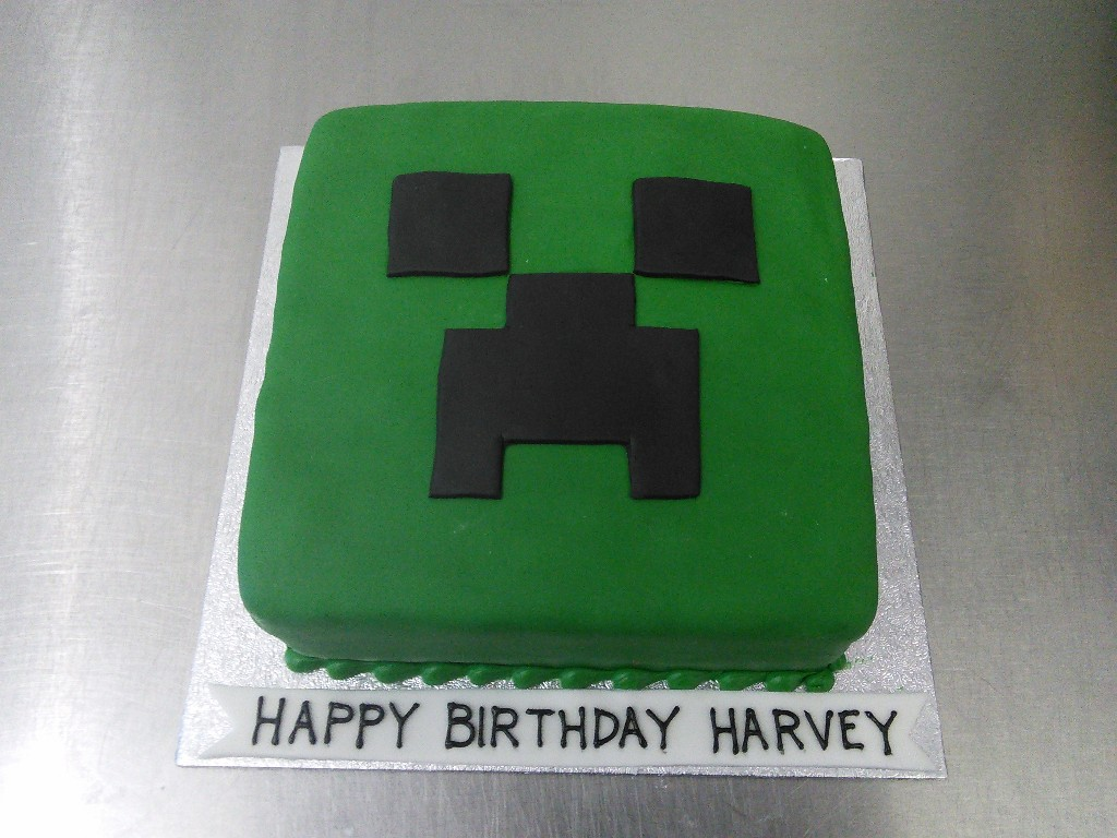 Creeper Birthday Cakes