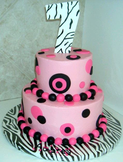Cake Design For 7th Birthday Girl