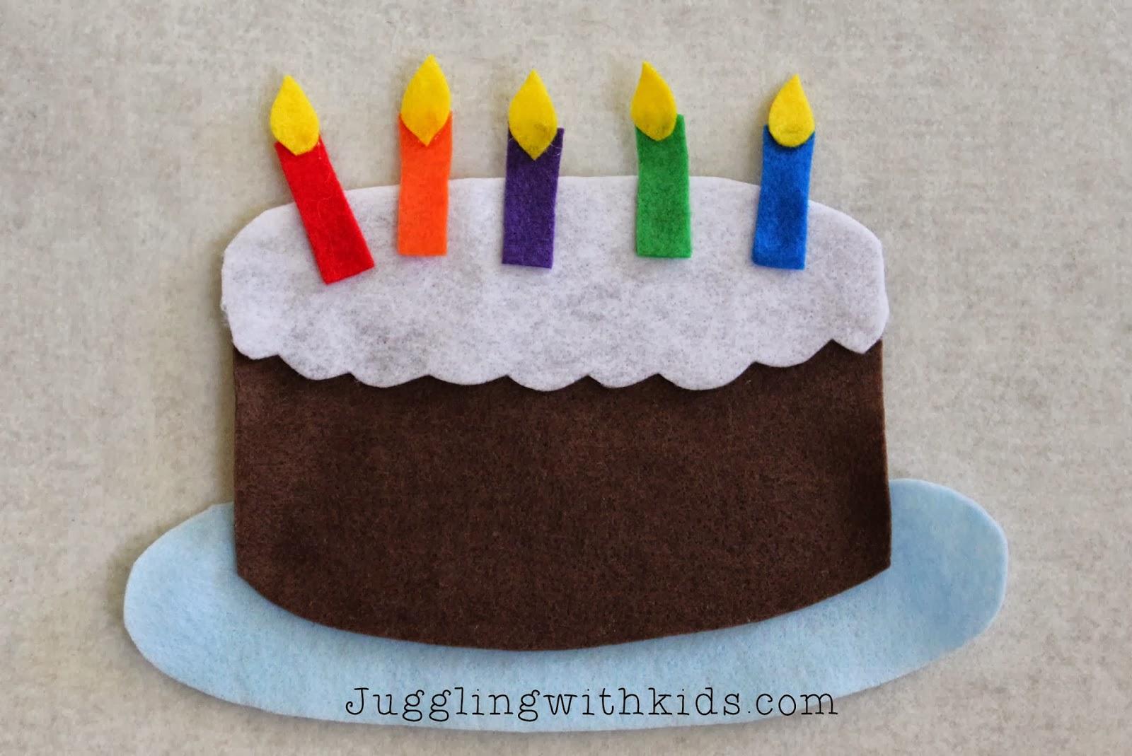 Felt Birthday Cakes