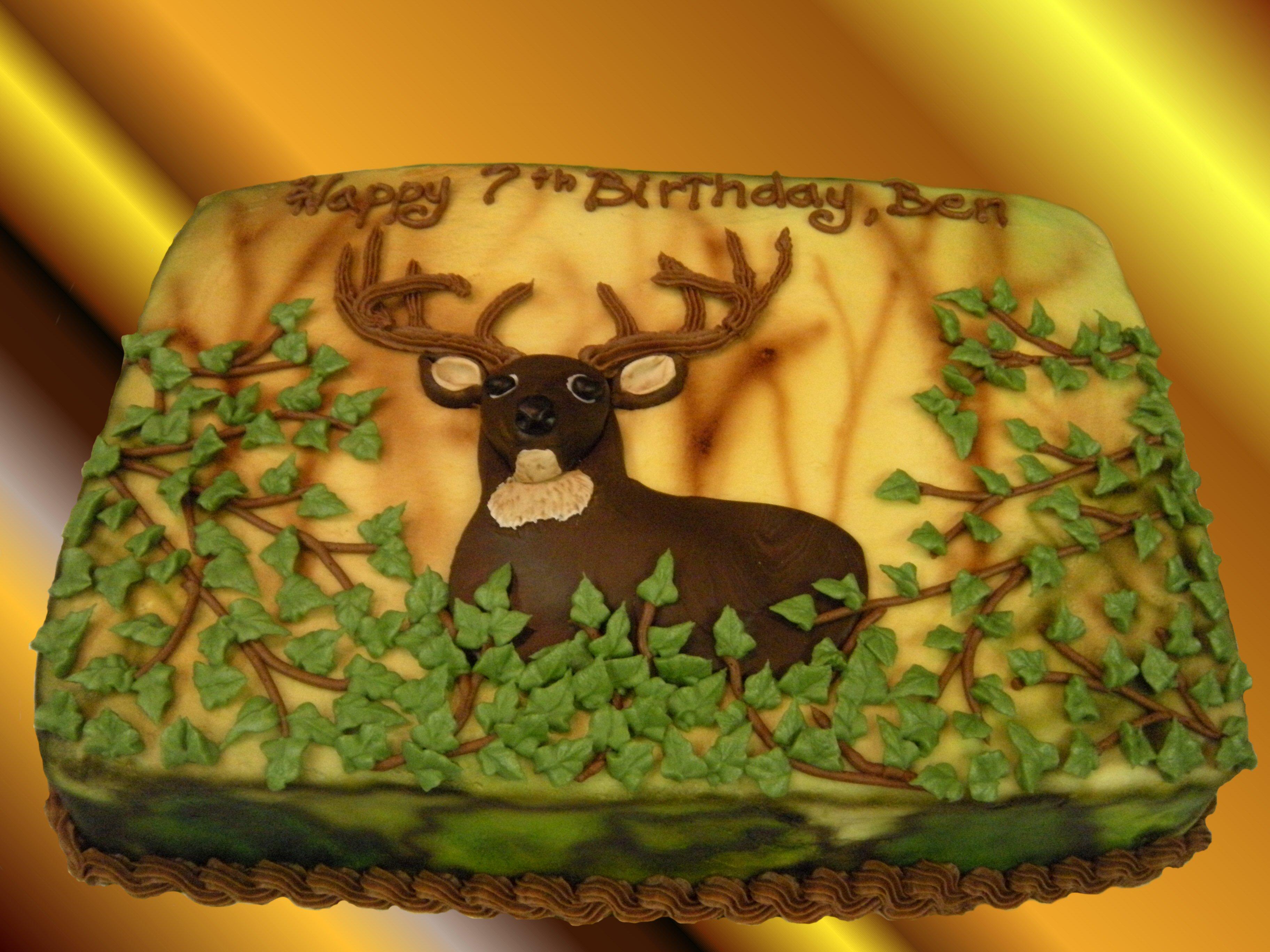 Deer Birthday Cakes