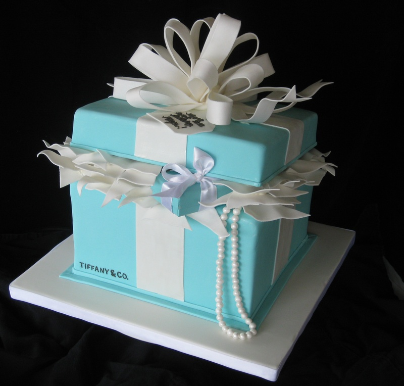 Tiffany Co Gift Box Occasional CAKE Ideas Pinterest